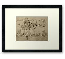 Summer Breeze drawing Framed Print