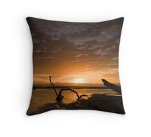 Sunrise at Nudgee Beach Throw Pillow