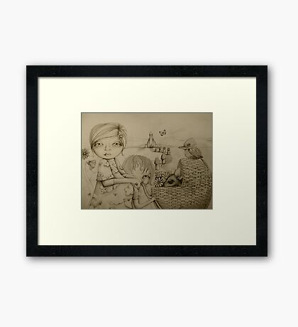 Sunday drawing Framed Print