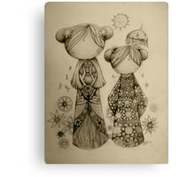 Zen Garden drawing Canvas Print