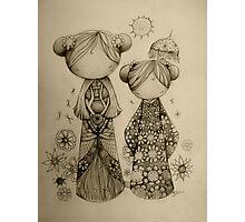 Zen Garden drawing Photographic Print