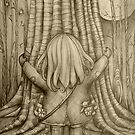 Tree Hugs drawing by © Karin Taylor