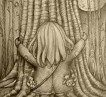 Tree Hugs drawing by © Cassidy (Karin) Taylor