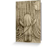 Tree Hugs drawing Greeting Card