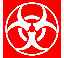 Biohazard symbol Photographic Print