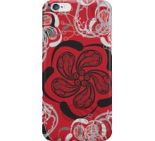 Dragon Red Paisley iPhone Case/Skin