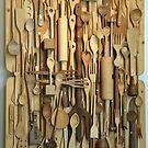 Wooden kitchen utensils by Arie Koene