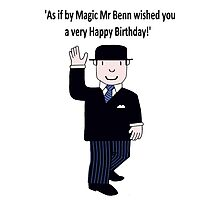Mr Benn 'Birthday' Photographic Print