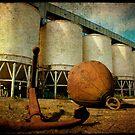 anchor and silos... by Sonia de Macedo-Stewart