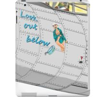 Aircraft nose art Look out below iPad Case/Skin