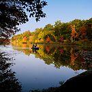 Fishing on Stiles Pond by Susana Weber