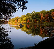 Fishing on Stiles Pond by Susana Weber