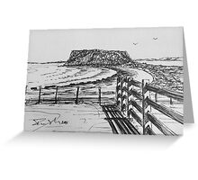 The Nut and Fence Stanley Tasmania Greeting Card