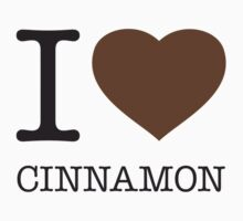 I ♥ CINNAMON One Piece - Short Sleeve