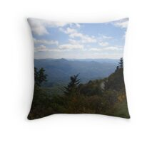 The Road around Waterrock Knob Throw Pillow