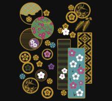 Friends of Winter Kimono Collage (ver.2) by mingtees
