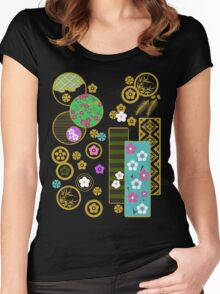 Friends of Winter Kimono Collage (ver.2) Women's Fitted Scoop T-Shirt