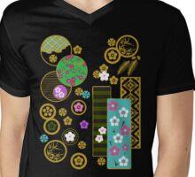 Friends of Winter Kimono Collage (ver.2) Mens V-Neck T-Shirt