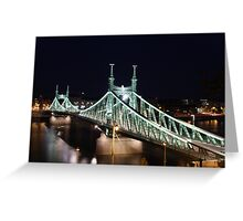 Bridge over the Danube in Budapest Greeting Card