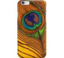 Cauda Pavonis Colourful Peacock Tail Feather Painting iPhone Case/Skin