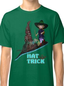 Hat Trick  .. A cute witch and black cat Classic T-Shirt