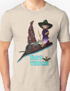 Hat Trick  .. A cute witch and black cat Unisex T-Shirt