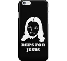 Reps For Jesus Gym Workout Fitness Muscle White iPhone Case/Skin