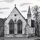 177 - ST. MARY'S CHURCH, BLYTH - DAVE EDWARDS - INK - 1990 by BLYTHART