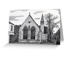 177 - ST. MARY'S CHURCH, BLYTH - DAVE EDWARDS - INK - 1990 Greeting Card
