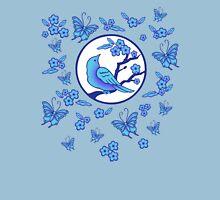 Bird, Butterflies, and Blossoms Womens Fitted T-Shirt