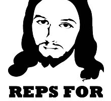 Reps For Jesus Gym Workout Fitness Muscle Black  by BelfastBoy