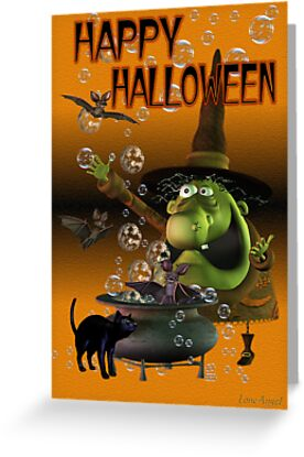 Happy Halloween .. a wacky witch with her familars by LoneAngel