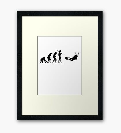 Evolution to Scuba Diver Framed Print