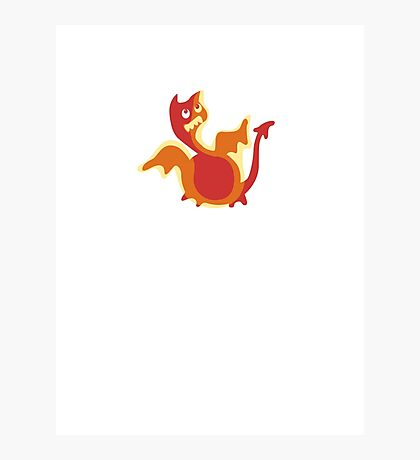 Cute Little Dragon, Cute Ugly T-Shirt or Sticker Photographic Print
