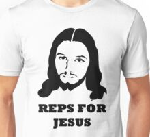 Reps For Jesus Gym Workout Fitness Muscle Black  Unisex T-Shirt