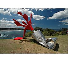 Red Paint Tube @ Sculptures By The Sea Photographic Print