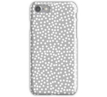 Tiny polka dots in pastel grey color. iPhone Case/Skin