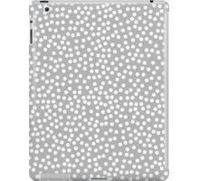 Tiny polka dots in pastel grey color. iPad Case/Skin