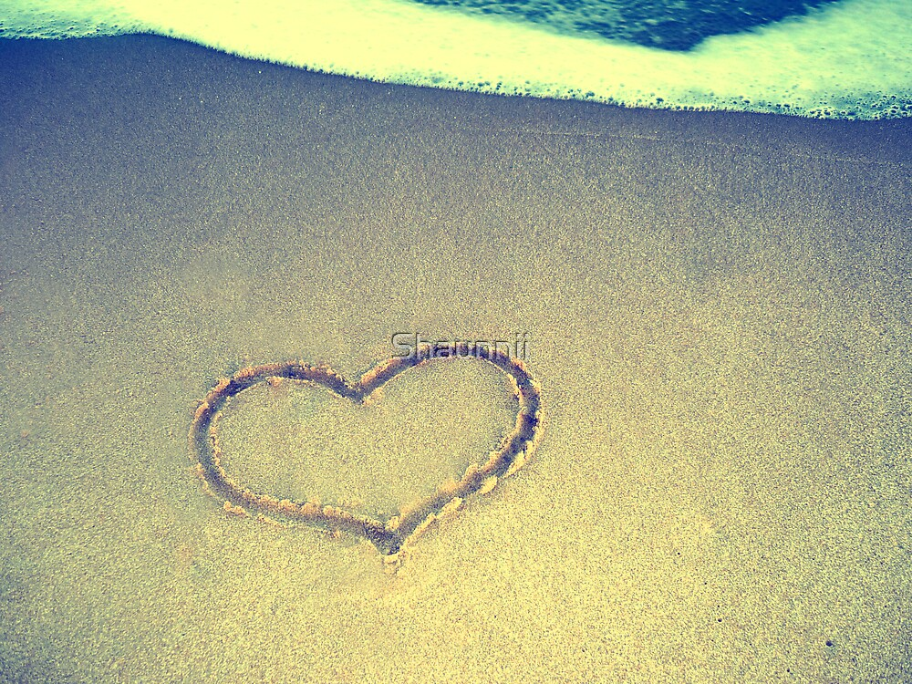 Love Is Like Drawing Hearts In The Sand by Shaunnii