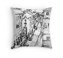 Florence Street Scene Throw Pillow
