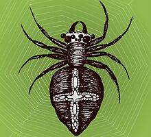Giant brown spider by Bwiselizzy