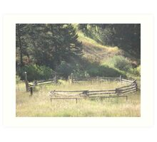 Old Stock Corral Art Print