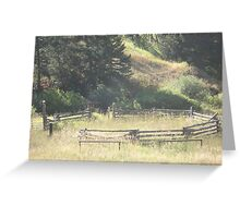 Old Stock Corral Greeting Card