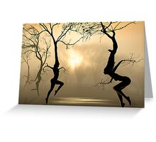 Dancing Trees Greeting Card