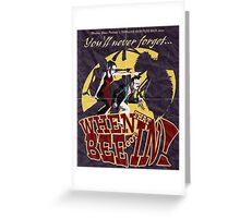 When That Bee Got In! Original Movie Poster Greeting Card