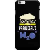 """""""Beer is the Paralegal's H20"""" Collection #43163 iPhone Case/Skin"""