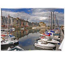 Honfleur harbour Poster