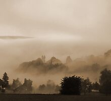 Misty Landscape by Rosy Kueng Photography