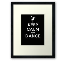 Keep Calm And Dance - T-shirts and Hoddies Framed Print