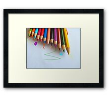 NEW PENCIL SKIRTS DESIGNED BY COLLEEN2012 THINKING  ...  OUTSIDE THE BOX! Framed Print